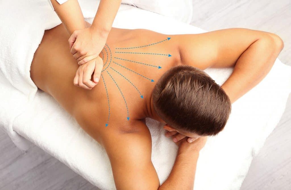 надавливание - расслабляющий массаж спины