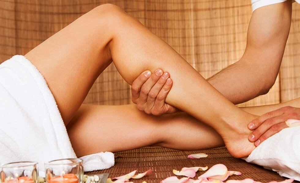 Расслабляющий массаж голеней